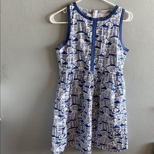 MODCLOTH Mata Traders Blue Summer Dress